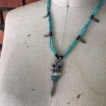 Image of Little Aqua Owl Necklace