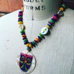 Image of Carnival Owl Necklace
