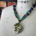Image of a Festive Fall Leaf Necklace