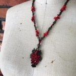 Image of Fancy Red Forest Owl Necklace