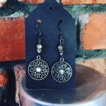 Image of Pewter and Silver Earrings