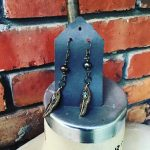 Image of Drippy Pearl and Feather Earrings