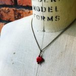 Image of Red Elephant Necklace