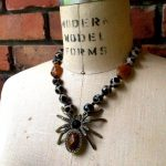 Image of Along Cane a Spider Necklace